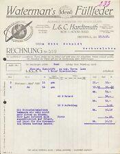 DRESDEN, Rechnung 1918, Waterman`s Ideal-Füllfeder