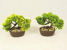 Árbol Bonsai En Maceta Oval, Planta Artificial Decoración para la oficina y el hogar de 15 Cm