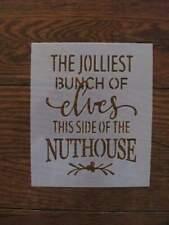 L1425 Jolliest Elves Nuthouse Durable Reusable Airbrush Mylar Stencil