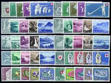"""Schweiz """"Pro Patria 1950-1959"""" postfrisch ** MNH / gestempelt"""