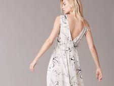 NEW Diane von Furstenberg DVF Cinch Waist MAXI Dress SILK Ivory P S M L