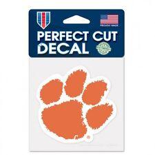 "Clemson Tigers Orange Paw Primary Team Logo Perfect Cut Sticker Decal 4"" x 4"""