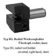 VDI Typ B3 Radial Werkzeughalter überkopf, rechts, kurz / radial toolholder inve