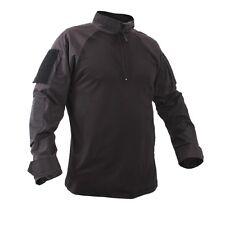Rothco 99010 Men's Black 1/4 Zip Military Combat Shirt