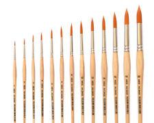 Künstlerpinsel Gr. 1 bis 20 Golden Nylon für Aquarellfarbe, Acrylfarben, Tempera