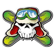 2 X Brillantes Pegatinas De Vinilo De Esqui-Gafas de snowboard Ipad divertido Laptop calcomanía # 4010