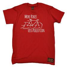 Más bicicletas menos contaminación T-Shirt Bicicleta Ciclismo Ciclismo Divertido Regalo De Cumpleaños