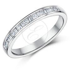 18ct White Gold 3mm Princess Cut 0.25 Carat Eternity Diamond Ring