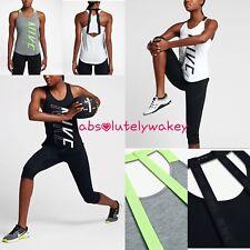 Nike Breathe Elastika Dry Women's Training Running Gym Strappy Tank
