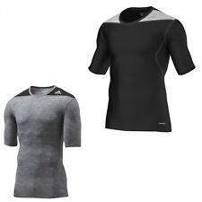 adidas TechFit kurzarm Kompressionsshirt Sportshirt Fitness Shirt