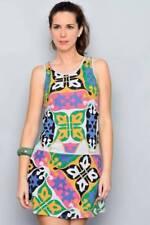 Women Ladies Tropical Pattern Summer Day Dress casual Mini Dresses