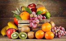 Fruits Légumes Cuisine effet 3d Fenêtre Mur Vue Autocollant Poster Vinyle Art 466
