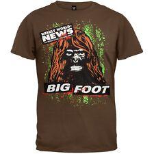 Weekly World News - Bigfoot Mens T-Shirt Brown