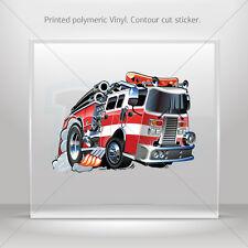 Decals Sticker Caricature Fire Fighting Truck Helmet durable st5 RS897