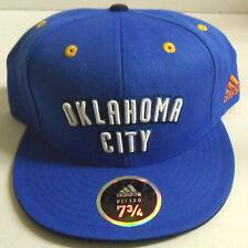 NBA Oklahoma City Thunder Adidas Flat Brim Fitted Fashion Color Cap Hat NEW!