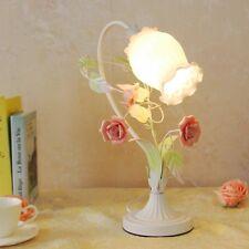 Rose Flowers Table Light Princess Bedroom Reading Lamp Lovely Small Desk Lamp