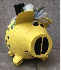 Sparschwein XXL Briefbox Hochzeit Geldgeschenk gelb hellblau Hochzeitsschwein