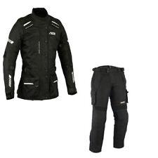 Motorradkombi Damen Jacke und Hose, Damen Motorrad Textil Kombi Schwarz Neu