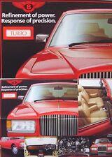 Huit Bentley Turbo R Continental 1984-1985 original brochure format poster