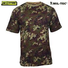 Maglia T-SHIRT MILTEC Maglietta Militare Vegetato ITALIA Mimetica Softair COTONE