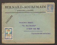 """CHALON-sur-SAONE (71) USINE de CONFECTION / VETEMENTS """"BERNARD - SOUBZMAIN"""" 1929"""