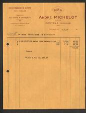 """COUTRAS (33) CIRES D'ABEILLES / CIRES à PARQUETS """"André MICHELOT"""" en 1935"""