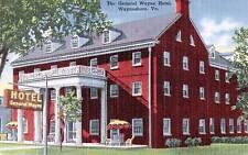 Postcard Virginia General Wayne Hotel 1940s Waynesboro Shenandoah Park Near MINT