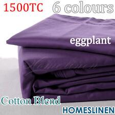 HOTEL 1500TC Cotton Rich 4PC Bedding Sheet Set Eggplant/Purple Double Size