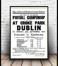 Football at Croke Park Dublin 1933 , advert, Poster, Wall art, Reproduction.