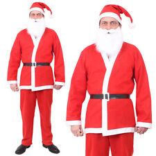 ADULTS SANTA SUIT FATHER CHRISTMAS COSTUME SANTACON MENS OUTFIT XMAS FANCY DRESS