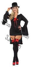 Donna adulto Dracula transilvanian Vampiressa Gotica Halloween Fancy Dress (EI)