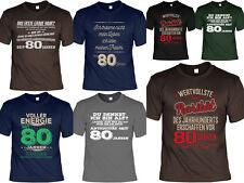 80.Geburtstag Sprüche T-Shirt - 80 Jahre - Coole Sprüche / Motive Geburtstag 80