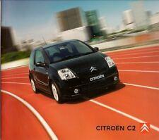 Citroen C2 2003-04 UK Market Sales Brochure L LX SX Furio VTR