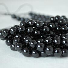 Grade Un Naturel Noir Spinelle Gemme Perles Rondes - 4 mm 6 mm 8 mm 10 mm
