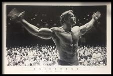 (FRAMED) ARNOLD SCHWARZENEGGER ENJOYMENT POSTER 96x66cm MR OLYMPIA 1974 PRINT