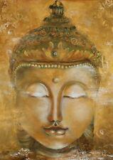 63357 The Head of a Golden Buddha FRAMED CANVAS PRINT AU