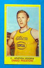 Figurina CAMPIONI DELLO SPORT 1970/71-n.2-PREATONI-ATLETICA LEGGERA-rec