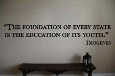 Diogenes Inspirational Teacher Classroom Quote Vinyl Sticker Decal
