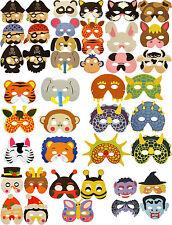 EVA foam MASK Choose Your Design! Wild Animal, Farm Animal, Insect, Pirate, UK