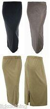 Nueva Falda con Cintura Elástica tramo negro, marrón marrón topo, gris mediano Grande * lamer