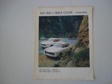 advertising Pubblicità 1964 FIAT 1500 e 1600 S COUPE'
