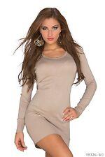 Mujer Ropa Elegante Jersey Cárdigan Vestido corto Reino Unido Tamaño 8-10