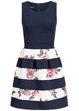 B17048055 Damen Violet Fashion Mini Kleid Zipper hinten, blau gestreift