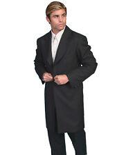 Scully RangeWear Mens Black Polyester Western Old West Frock Coat