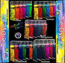 6 x Colours Tye Dye Set - Dyes up to 20 Projects -  Artistic Den Tie Dye Kit