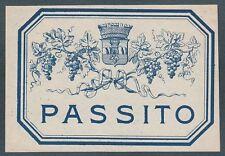 ETICHETTA VINO PASSITO WINE LABEL
