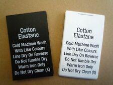 200 Printed Content Care Labels - Cotton Elastane