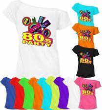 Ladies 80s Party T-Shirt Fancy Dress Costume Neon Festival Top 6831 Lot