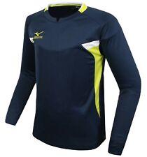 Mizuno Men Game L/S T-Shirts Jersey Training Navy Athletic Top Shirt P2Ma7K1414