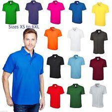 Mens Polo Shirt Pique Size XS to 6XL NEW Plain Premium All Colours **UK STOCK**